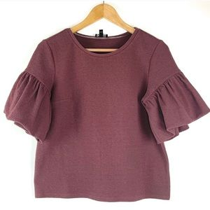 Express Mauve Bell Short Sleeves Blouse Oversized